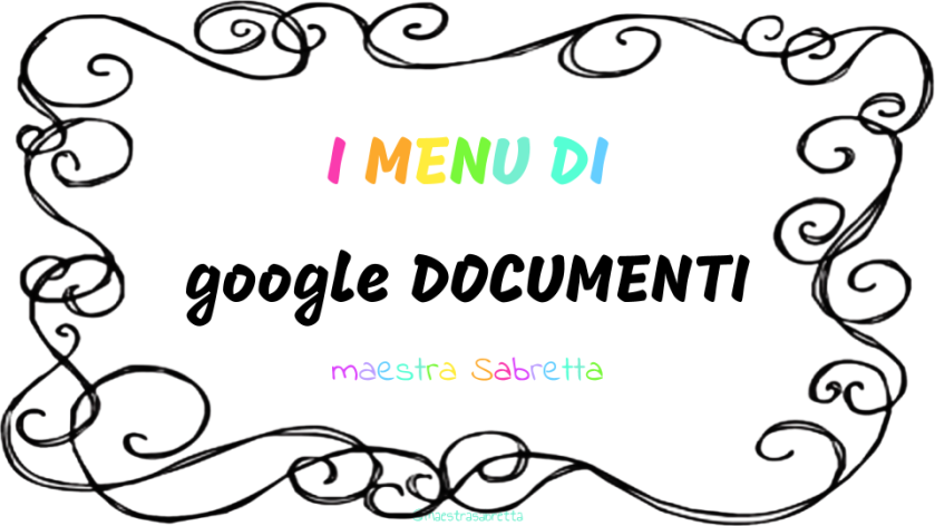 google DOC menu-4