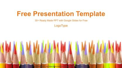 Colored Pencils Education Google Slides Presentation